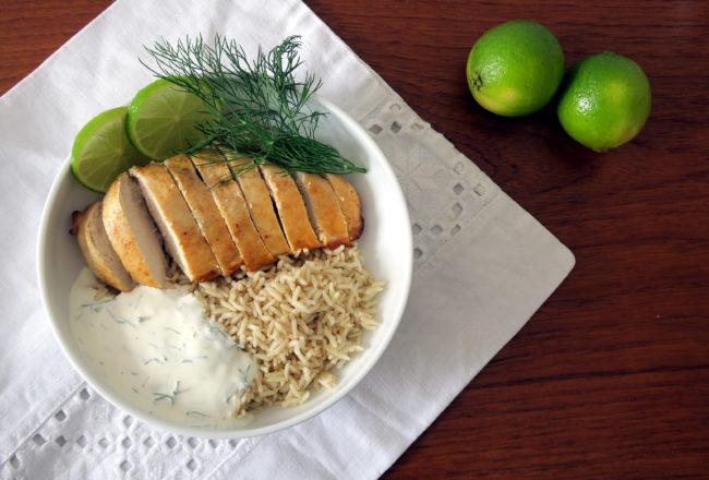 ein mexikanisches Chili-Limetten-Hühnchen