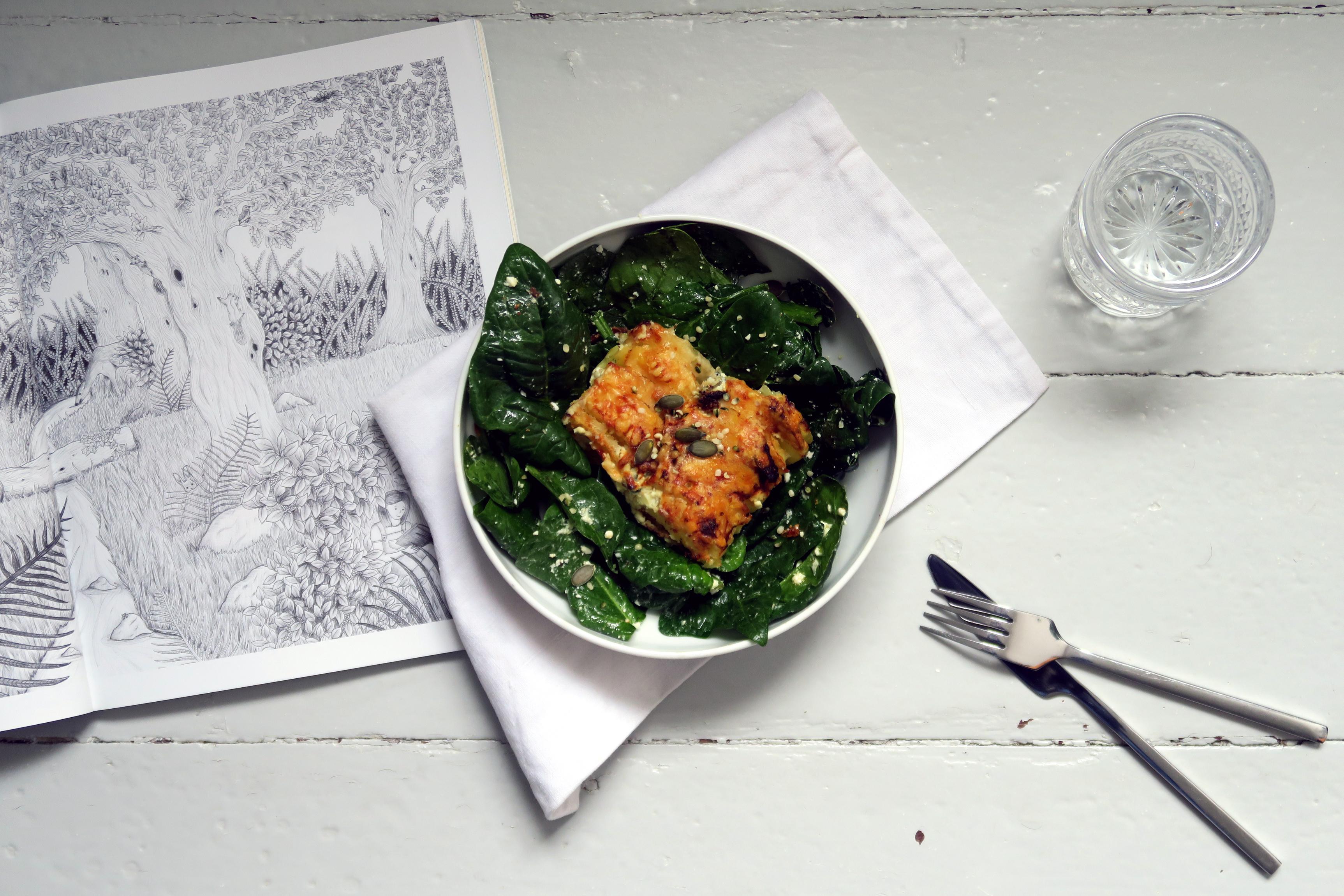 salbei kartoffel gratin auf spinatsalat glutenfreeme. Black Bedroom Furniture Sets. Home Design Ideas