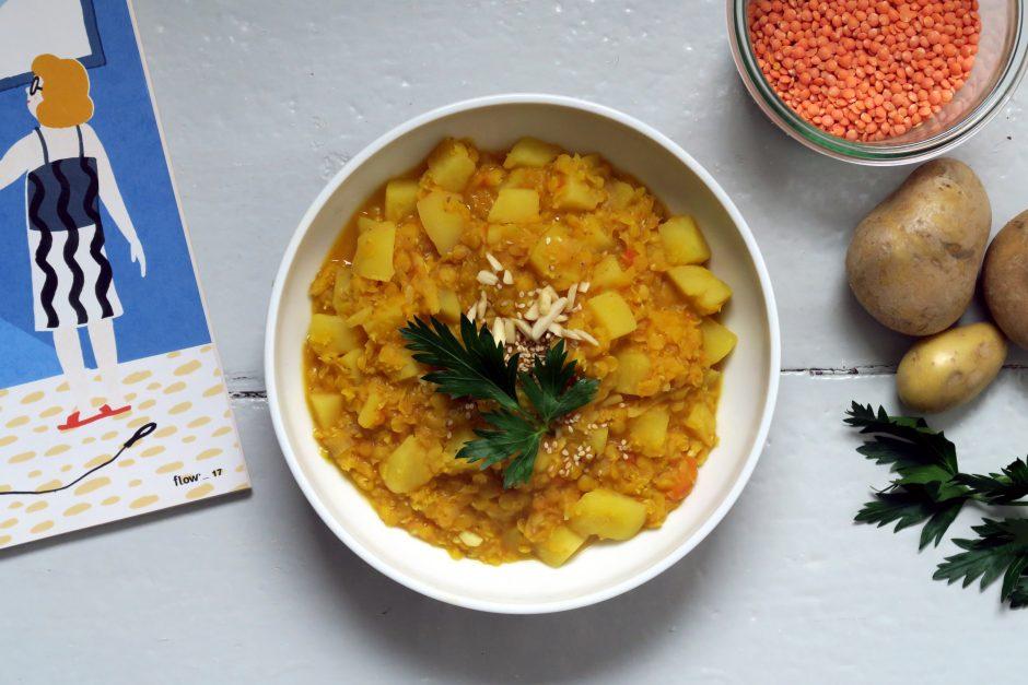 Kartoffel-Linsen-Curry, veganer und glutenfreier Sattmacher