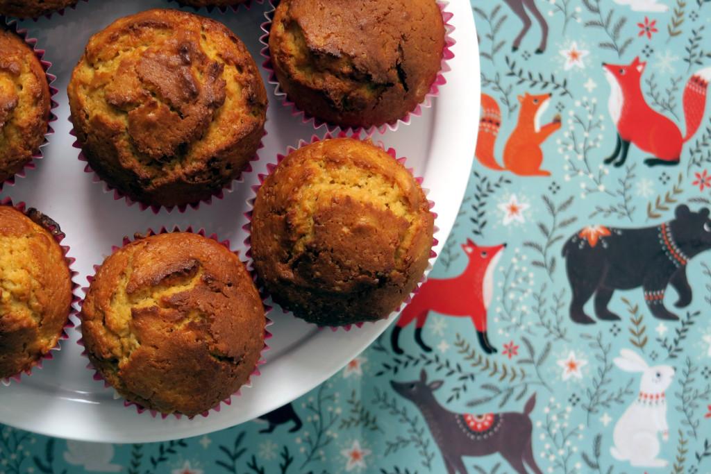 Kürbis-Mais-Muffins - die fruchtig-fluffige Muffin-Variante