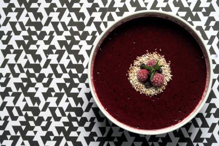 vitaminreicher Himbeer-Heidelbeer-Smoothie