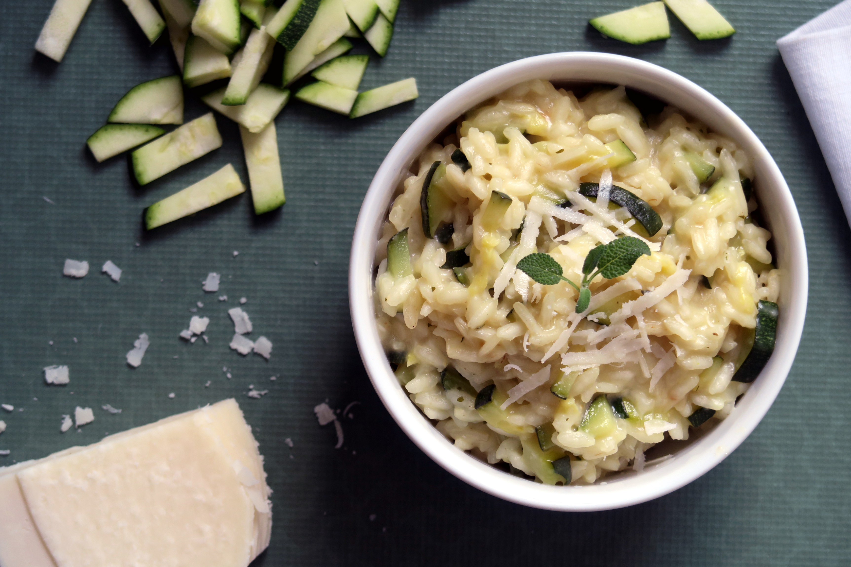 risotto mit zucchini glutenfreeme. Black Bedroom Furniture Sets. Home Design Ideas