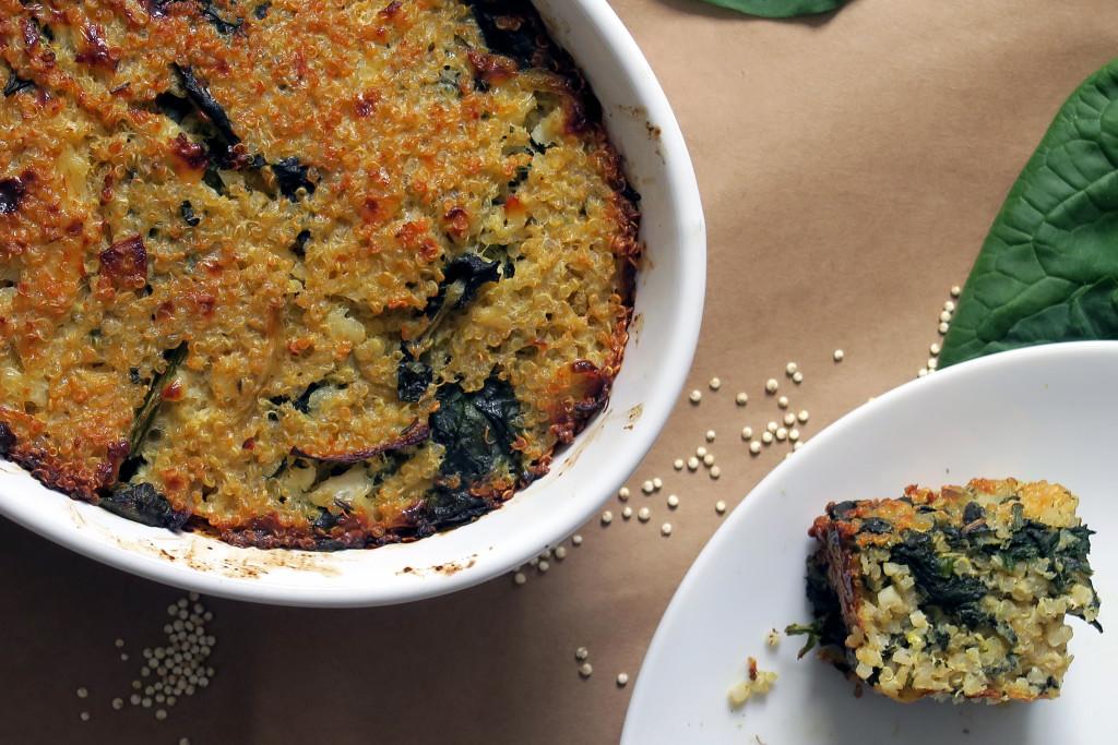Hmmm....lecker, dieser Quinoa-Spinat-Auflauf.