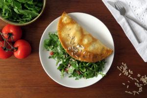 Omelett mit Rucolasalat