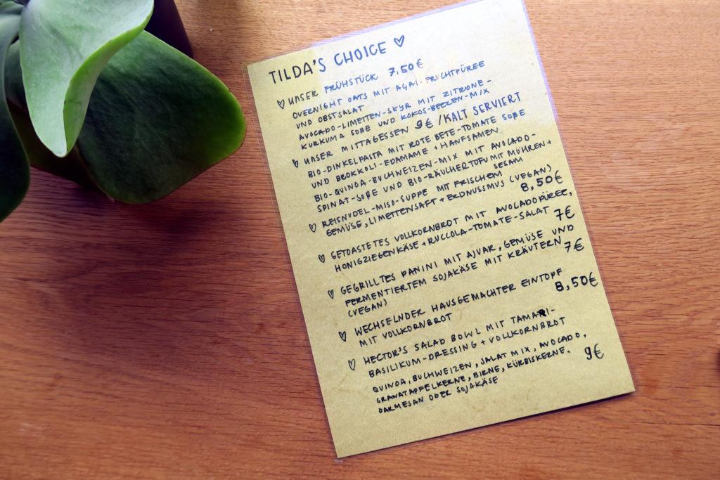 Speisekarte von Hector & Tilda