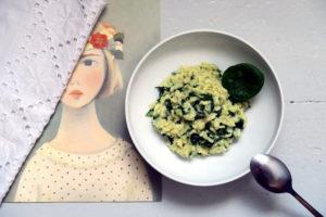 Risotto mit Spinat und Gorgonzola gab es bei mir heute zum Abend.