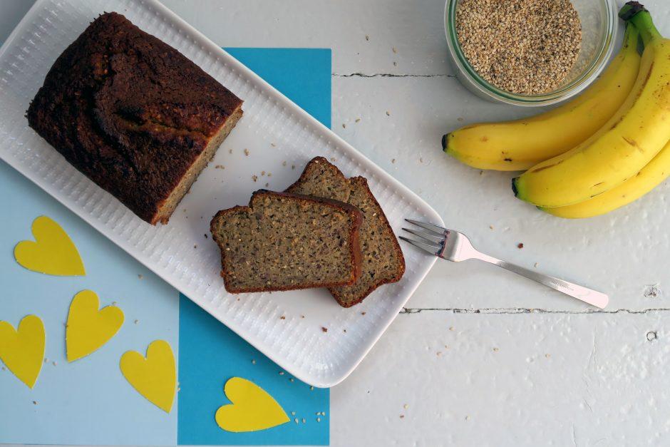 glutenfreies Bananen-Sesam-Brot