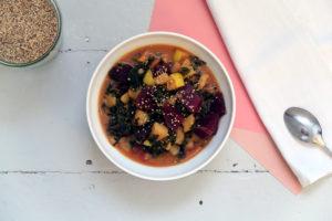 Grünkohl-Kartoffel-Curry mit Rote Bete - vegan und glutenfrei