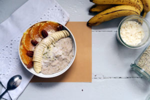 veganes Kokos-Buchweizen-Porridge