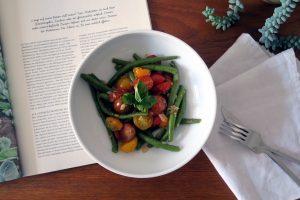 vegane und glutenfreie Buschbohnenpfanne