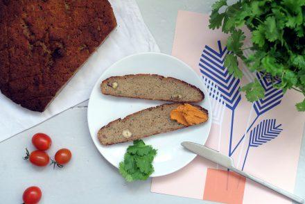 veganes und glutenfreies Kohlrabibrot