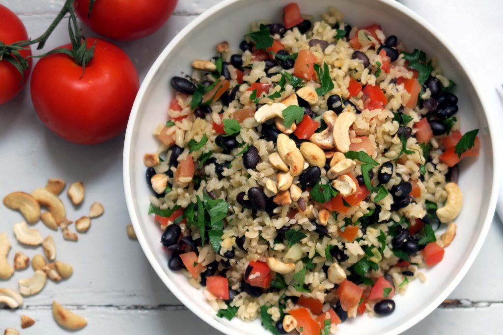 bunter Bohnen-Reis-Salat