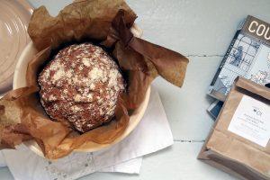 Buchweizen-Kichererbsen-Brot nach der backmischung von Motte & Mehlwurm